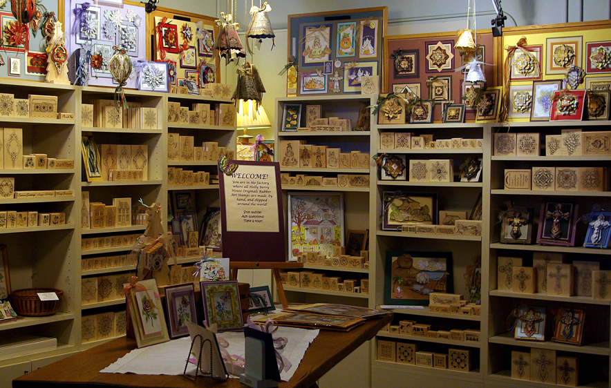 You May Start Or Add To Your Holly Berry House Originals Art Stamp Collection Tour The Manufacturing Area And Watch Vulcanizing Process Where Raw